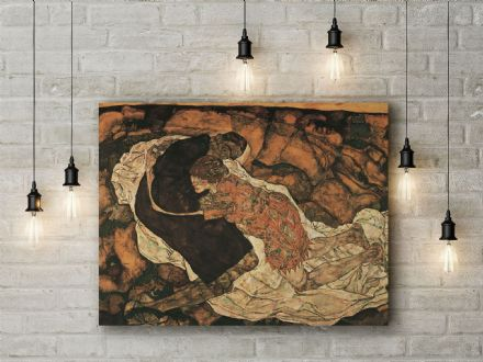 Egon Schiele: Death and the Maiden. Fine Art Canvas.